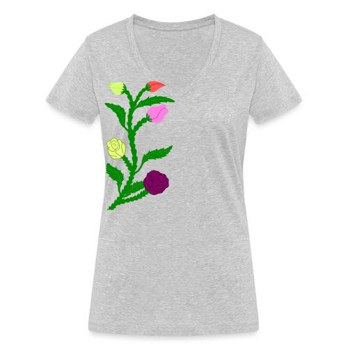 fleurs - T-shirt bio col V Stanley & Stella Femme
