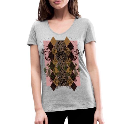 Esotico chic - T-shirt ecologica da donna con scollo a V di Stanley & Stella