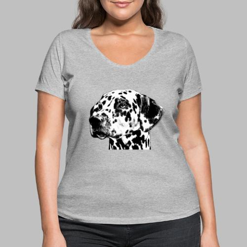 Dalmatiner Kopf Hund - Frauen Bio-T-Shirt mit V-Ausschnitt von Stanley & Stella
