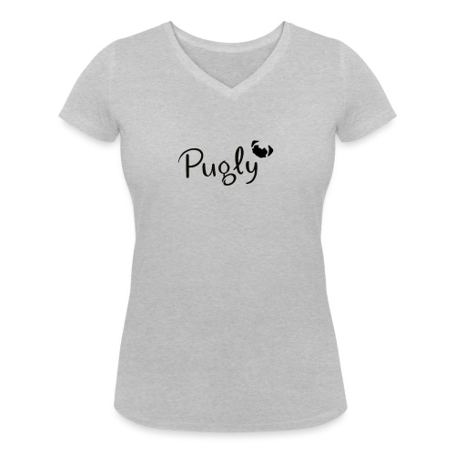 Pugly Logo - Ekologisk T-shirt med V-ringning dam från Stanley & Stella