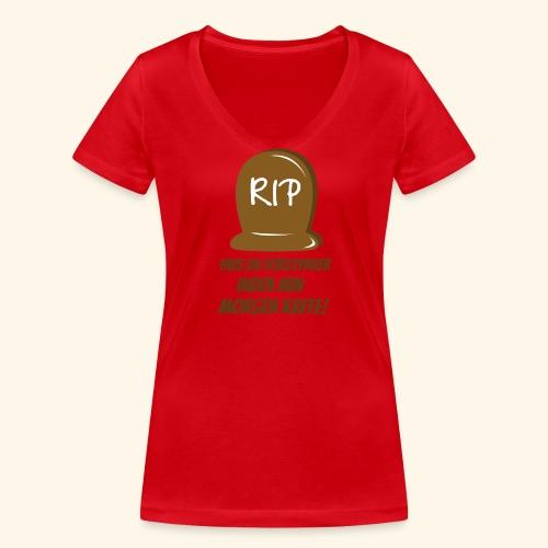 RIP, hvis du forstyrrer inden min morgen kaffe - Økologisk Stanley & Stella T-shirt med V-udskæring til damer