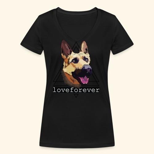 SHEPHERD LOVE FOREVER - Camiseta ecológica mujer con cuello de pico de Stanley & Stella