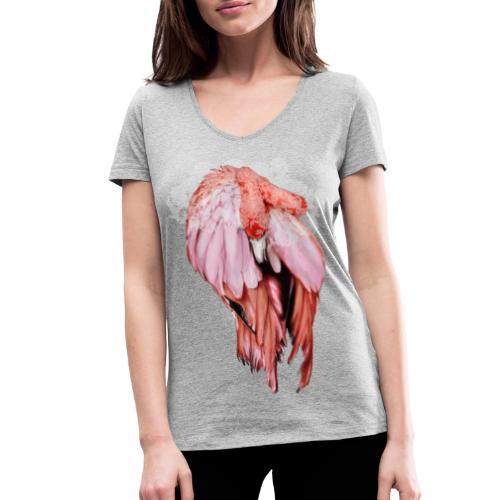 Fenicottero Rosa - T-shirt ecologica da donna con scollo a V di Stanley & Stella