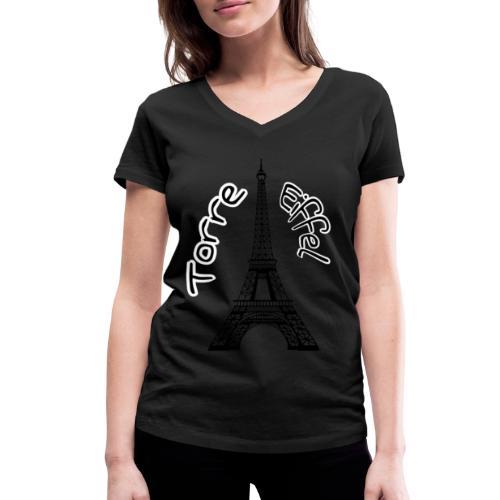 torre eiffel - Camiseta ecológica mujer con cuello de pico de Stanley & Stella