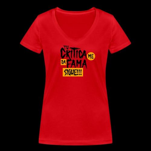 CRITICA - Camiseta ecológica mujer con cuello de pico de Stanley & Stella