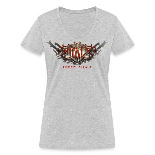 logo2000aB 300dpi - Women's Organic V-Neck T-Shirt by Stanley & Stella
