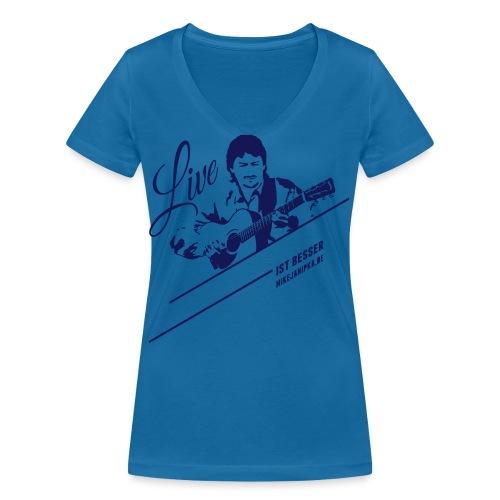 Janipka Shirt02 Flat - Frauen Bio-T-Shirt mit V-Ausschnitt von Stanley & Stella