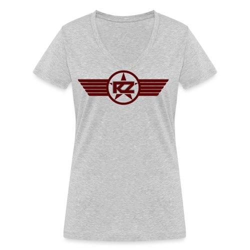 Logo mit Flügel rot ungestempelt gif - Frauen Bio-T-Shirt mit V-Ausschnitt von Stanley & Stella