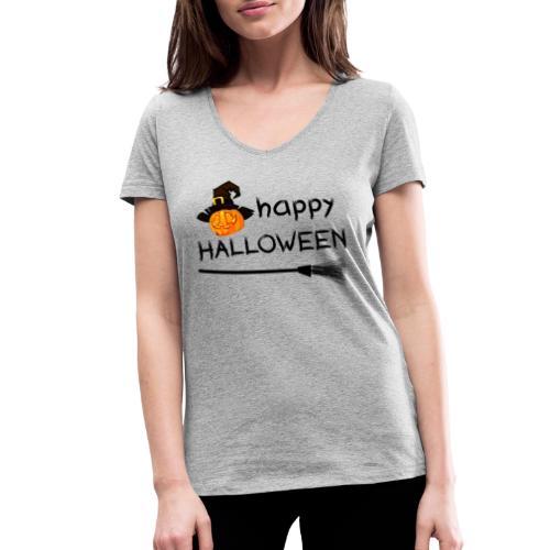 Happy halloween - Vrouwen bio T-shirt met V-hals van Stanley & Stella