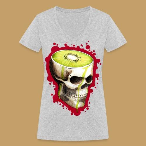 Czacha Kiwi - Ekologiczna koszulka damska z dekoltem w serek Stanley & Stella