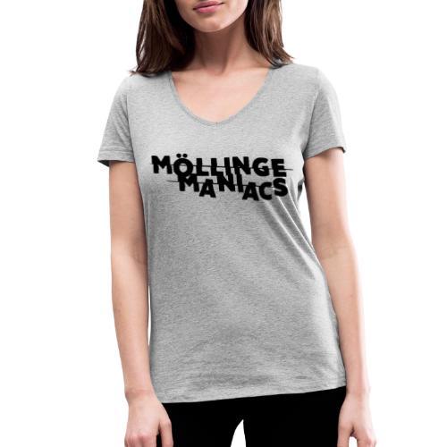 Möllinge Maniacs svart logga - Ekologisk T-shirt med V-ringning dam från Stanley & Stella