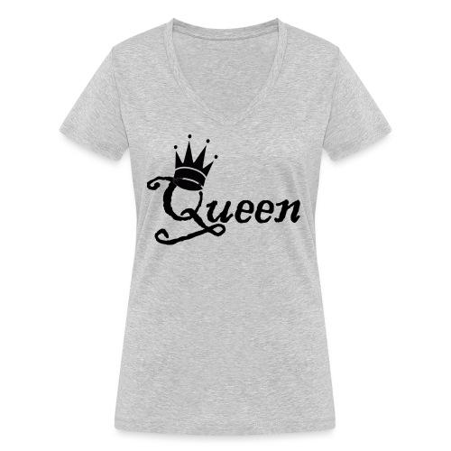 Queen (Parejas l) - Camiseta ecológica mujer con cuello de pico de Stanley & Stella