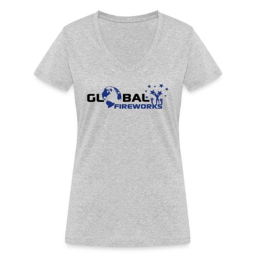 Global Fireworks - Frauen Bio-T-Shirt mit V-Ausschnitt von Stanley & Stella