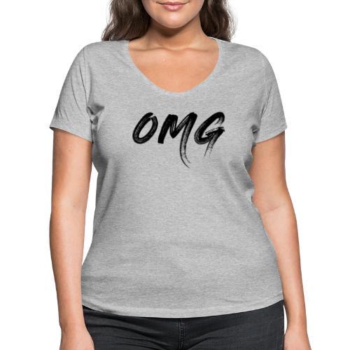 OMG, musta - Stanley & Stellan naisten v-aukkoinen luomu-T-paita