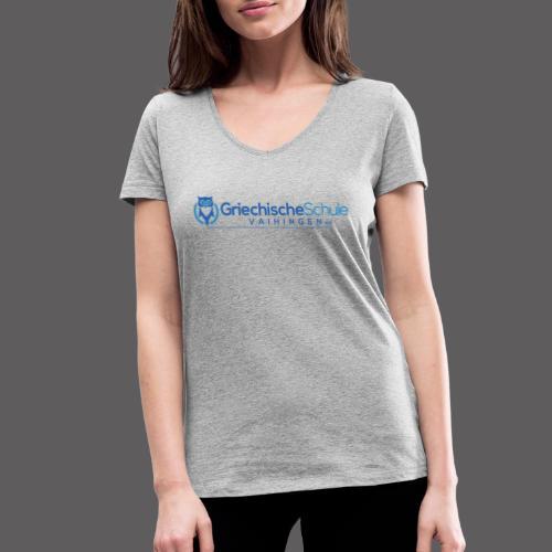 Griechische Schule Vaihingen e.V. - Frauen Bio-T-Shirt mit V-Ausschnitt von Stanley & Stella