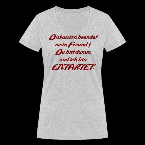 Diskussion_entartet - Frauen Bio-T-Shirt mit V-Ausschnitt von Stanley & Stella