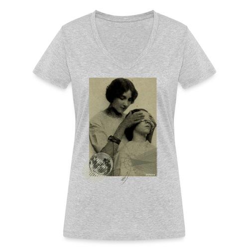 Lune aveugle - T-shirt bio col V Stanley & Stella Femme