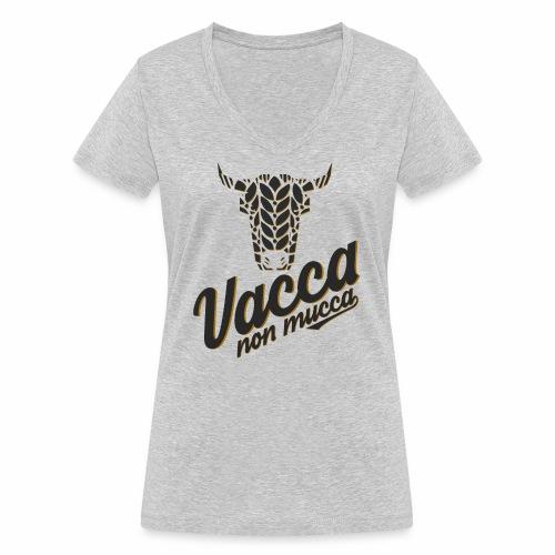 Vacca non mucca - T-shirt ecologica da donna con scollo a V di Stanley & Stella