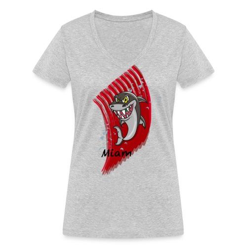 Requin miam - T-shirt bio col V Stanley & Stella Femme