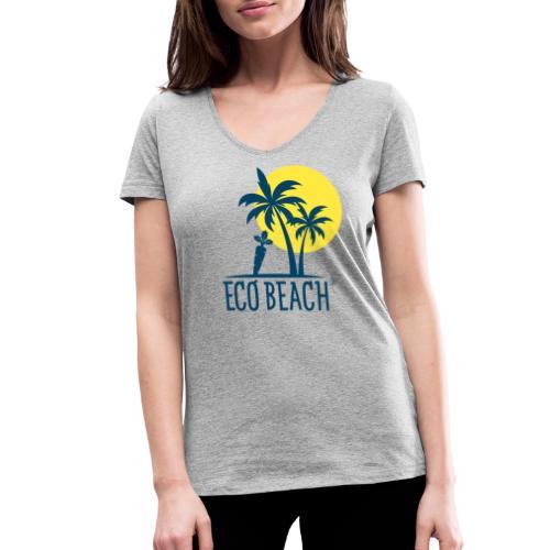 ECO BEACH - Frauen Bio-T-Shirt mit V-Ausschnitt von Stanley & Stella