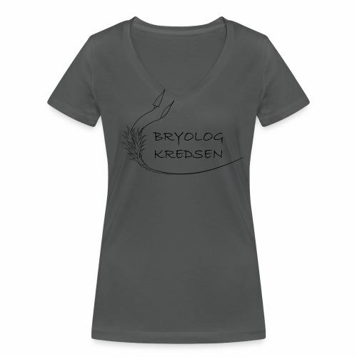 Bryologkredsen - sort logo - Økologisk Stanley & Stella T-shirt med V-udskæring til damer