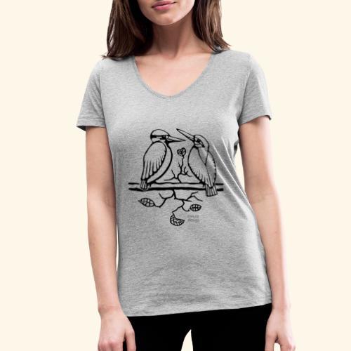 Eisvogel Liebe - Frauen Bio-T-Shirt mit V-Ausschnitt von Stanley & Stella