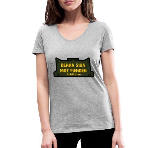 DENNA SIDA MOT FIENDEN - Mina - Ekologisk T-shirt med V-ringning dam från Stanley & Stella