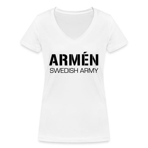 ARMÉN -Swedish Army - Ekologisk T-shirt med V-ringning dam från Stanley & Stella