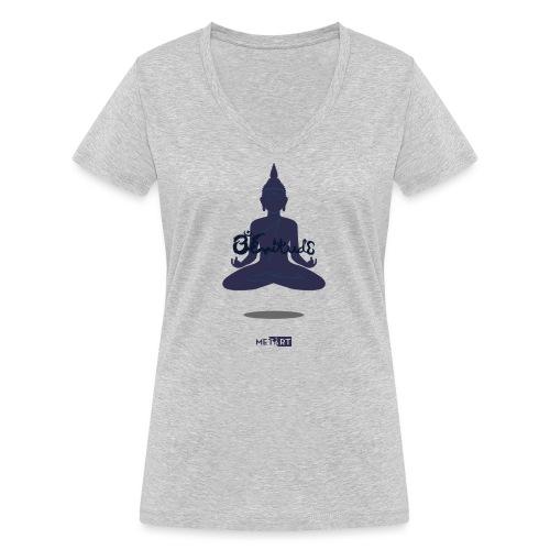 Zenitude - T-shirt ecologica da donna con scollo a V di Stanley & Stella