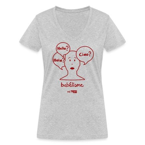 Babelisme - T-shirt ecologica da donna con scollo a V di Stanley & Stella