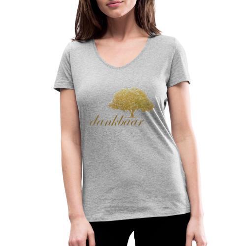 Dankbaar Boom Goud - Vrouwen bio T-shirt met V-hals van Stanley & Stella