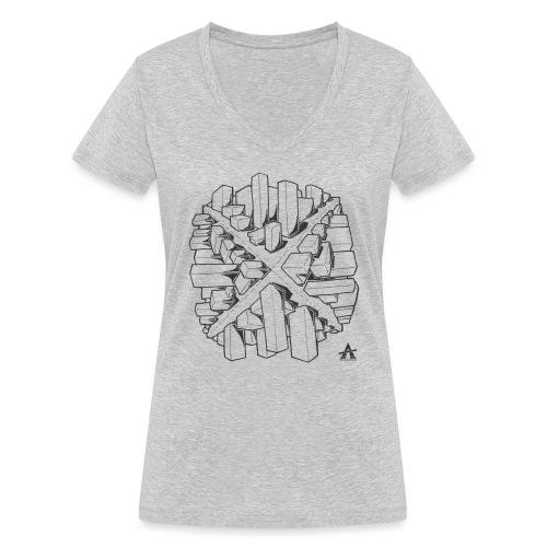 croix en perspective - T-shirt bio col V Stanley & Stella Femme