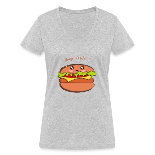 hamburger - T-shirt bio col V Stanley & Stella Femme