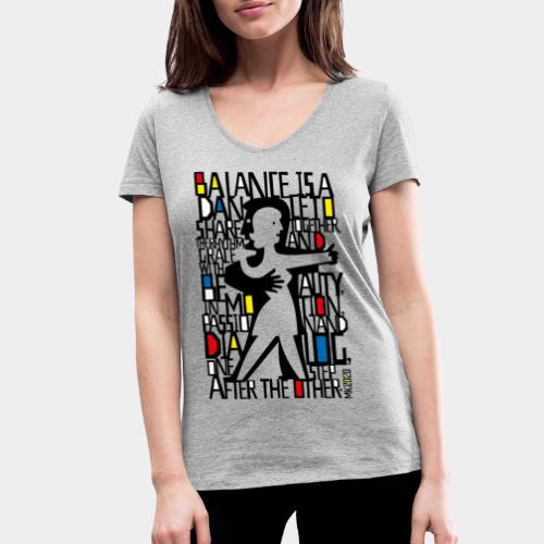 danseurs de musique de danse - T-shirt bio col V Stanley & Stella Femme