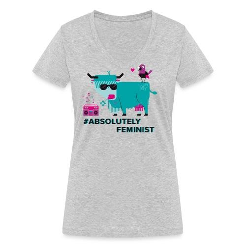 Absolutely Feminist (f) - Frauen Bio-T-Shirt mit V-Ausschnitt von Stanley & Stella