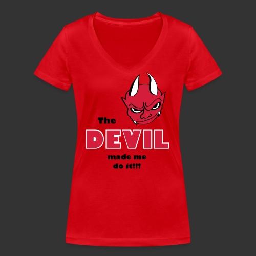 Devil made me do it! - Frauen Bio-T-Shirt mit V-Ausschnitt von Stanley & Stella