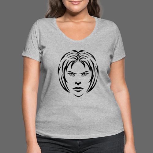 Angry woman - Frauen Bio-T-Shirt mit V-Ausschnitt von Stanley & Stella