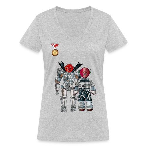 Trashcans - Frauen Bio-T-Shirt mit V-Ausschnitt von Stanley & Stella