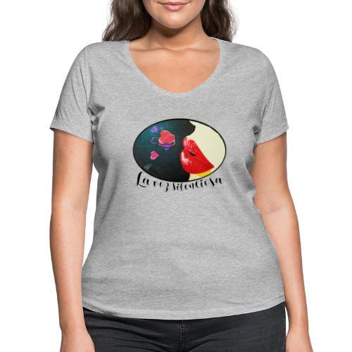 La Voz Silenciosa - Besos - Camiseta ecológica mujer con cuello de pico de Stanley & Stella
