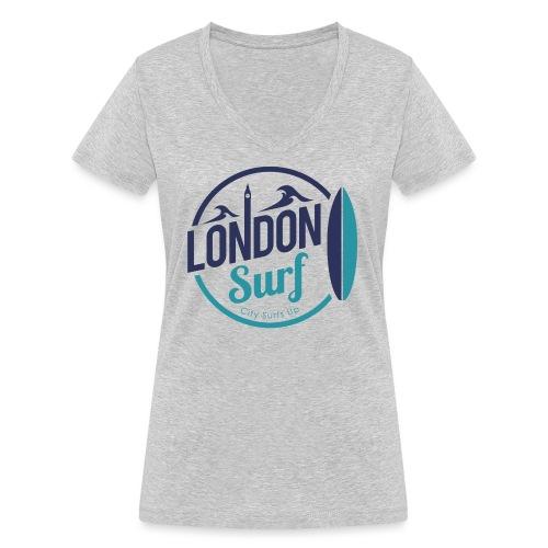 London Surf Classic Logo - Women's Organic V-Neck T-Shirt by Stanley & Stella