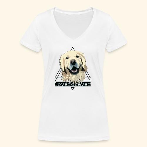 RETRIEVER LOVE FOREVER - Camiseta ecológica mujer con cuello de pico de Stanley & Stella