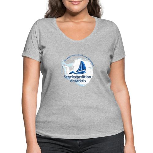 segelexpedition antarktis3 - Frauen Bio-T-Shirt mit V-Ausschnitt von Stanley & Stella