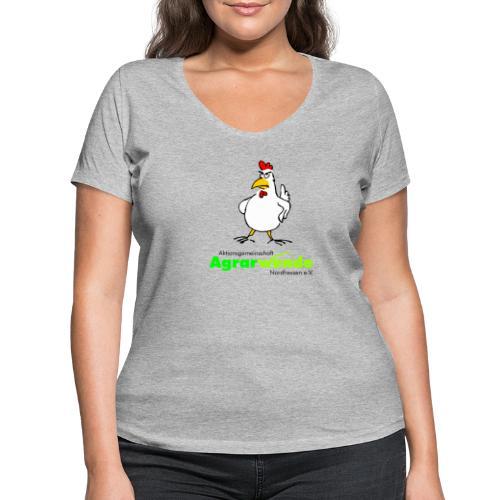AGA Shirt mit Huhn - groß - Frauen Bio-T-Shirt mit V-Ausschnitt von Stanley & Stella