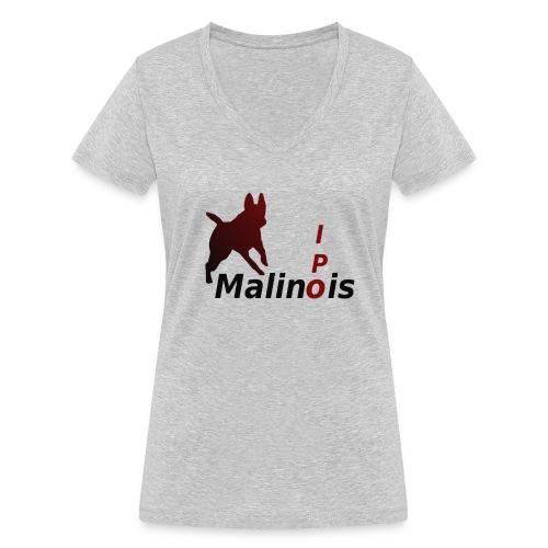 IPO Malinois Männer T-Shirt V Ausschnitt - Frauen Bio-T-Shirt mit V-Ausschnitt von Stanley & Stella