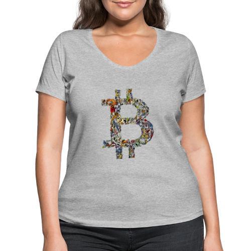 BITCOIN logo color - Vrouwen bio T-shirt met V-hals van Stanley & Stella
