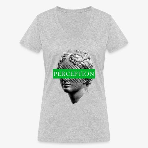 TETE GRECQ GREEN - PERCEPTION CLOTHING - T-shirt bio col V Stanley & Stella Femme