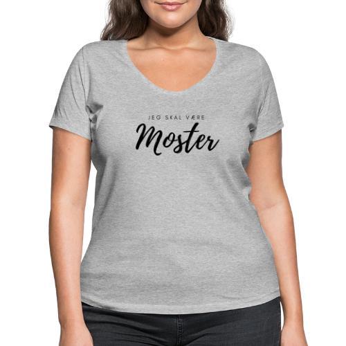Jeg skal være moster - Økologisk Stanley & Stella T-shirt med V-udskæring til damer