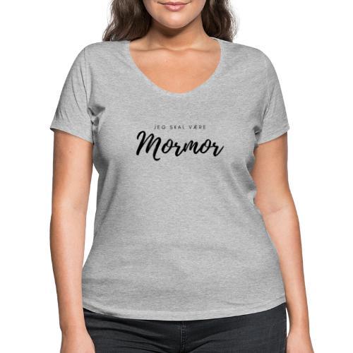 Jeg skal være mormor - Økologisk Stanley & Stella T-shirt med V-udskæring til damer