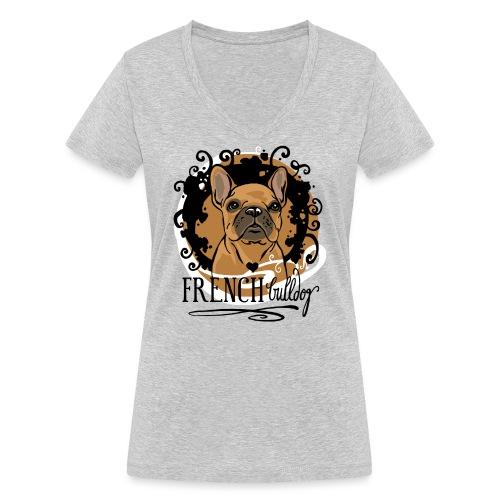 French Bulldog bunt - Frauen Bio-T-Shirt mit V-Ausschnitt von Stanley & Stella