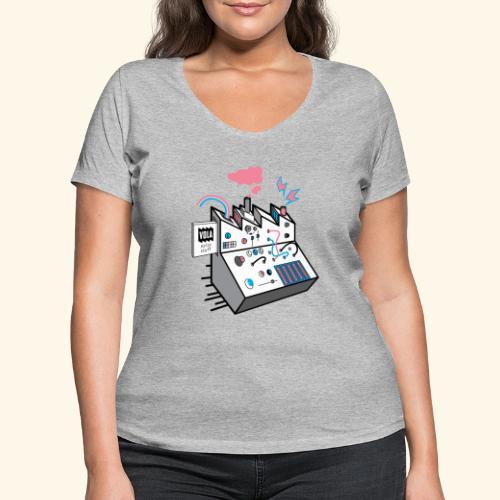 Noise Factory - Stanley & Stellan naisten v-aukkoinen luomu-T-paita